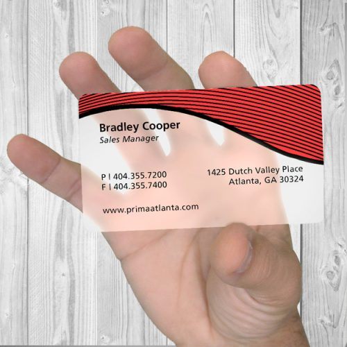 Business cards color werx branding custom solutions printing frost plastic card 20pt reheart Image collections